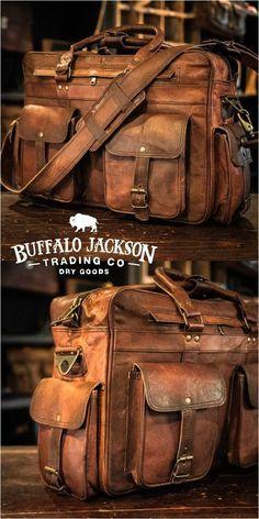 Leather Briefcases - Bags - Men's vintage full-grain brown leather pilot briefcase bag. Large size fits up to laptops - Vintage Leather, Leather Men, Men's Vintage, Brown Leather, Leather Bags, Leather Craft, Briefcase For Men, Leather Briefcase, Leather Satchel