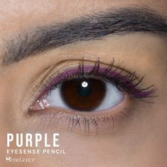 Limited Edition Purple EyeSense Eyeliner Pencil by SeneGence is waterproof and will not smudge or budge.  No need for a sharpener - just twist from the bottom when you need a little more.  Comes in four permanent colors : gold shimmer, black, black brown and navy.  This matte forest green will amp up your look.  Click here to purchase yours.  #senegence #eyesense #eyeliner #waterproof