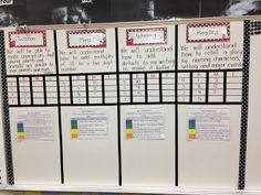 Learning targets for each subject, with rubric Classroom Board, Classroom Layout, Classroom Organization, Classroom Management, Classroom Decor, Bulletin Boards, Organization Ideas, Behavior Management, Organizing