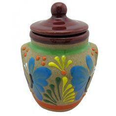 Raised Hand Painted Talavera Sugar Pot
