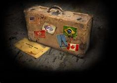 Love this old suitcase
