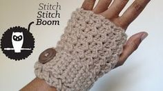 Moss Stitch Fingerless Mittens - YouTube