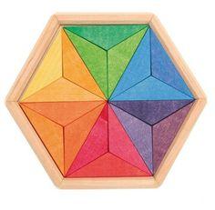de madera con colores complementarios