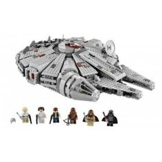 Straight from the Death Star escape scene of Episode IV: A New Hope, the all-new LEGO® Millennium Falcon features stunning details, like hull plates that open to reveal a detailed interior, twin flick missiles, rotating quad laser cannons and detachable cockpit cover. Featuring Han Solo, Luke Skywalker, Chewbacca, Ben Kenobi, Princess Leia Organa and Darth Vader. Ages 9 yrs. +.$159.90 #lego #starwars #falcon #ship