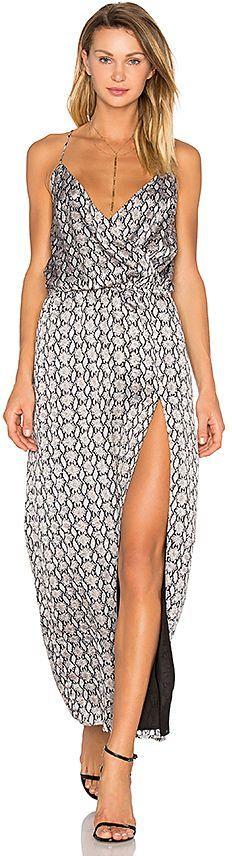 Blq Basiq Snake Print Side Slit Dress