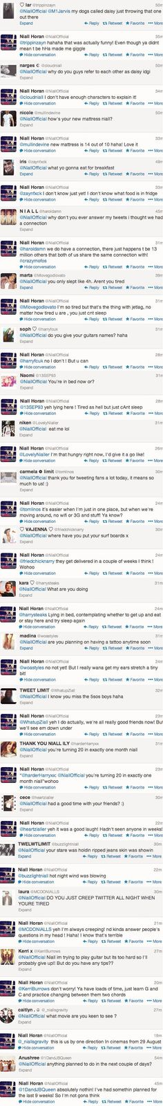 niall jetlag tweets 1/2 (this is amazing!!!) - He's so sweet to the fans!