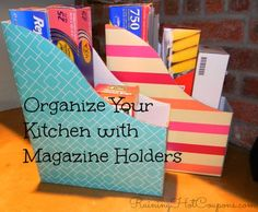 Organize Your Kitchen with Magazine Holders (Just $0.50 Each