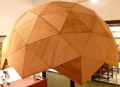 Plywood Geodesic Dome | From a unique collection of antique and modern architectural models at http://www.1stdibs.com/furniture/more-furniture-collectibles/architectural-models/