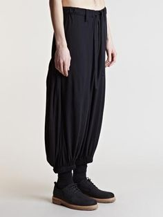 Yohji Yamamoto Yohji Yamamoto Men's  Plain Stitch Pants