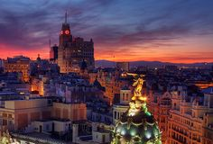 Madrid. even though Barcelona will take your breath away, Madrid at night is where I'll blow your mind away.