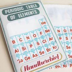 Periodic Table Of Elements Handkerchief