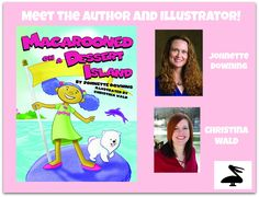 "Meet the author and illustrator of MACAROONED ON A DESSERT ISLAND! Johnette Downing has been nicknamed the ""Pied Piper for Louisiana music traditions"" for her many songs, books, and poems for children. She has received numerous accolades, including eight Parents' Choice Awards. Downing lives in New Orleans. Christina Wald owns and manages her own design and illustration company with a prolific clientele that includes National Geographic, Hasbro Inc., and many more. Wald lives in Cleveland…"