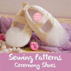 Pdf sewing patterns for children, newborn baby girl shoes pattern, baptism shoes, newborn shoes baby accessory,  girls white shoes by KidsSewingPatterns on Etsy