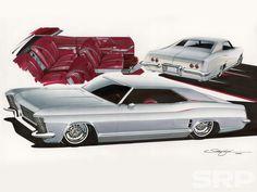 Custom Cars   Steve Stanford Illustration - Buick Riviera