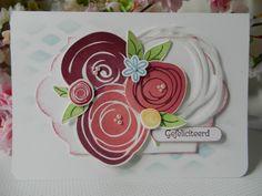 Stamp-ing: 'Swirly Bird' en 'Swirly Scribbles' Thinlits  van Stampin'Up!  www.stamp-ing.blogspot.nl