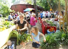 A busy Saturday morning at the Chestnut Square Farmers Market in McKinney.