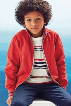 Buy Coral Harrington Jacket online today at Next: United States of America Cute Curly Hairstyles, Natural Hairstyles For Kids, Boy Hairstyles, Curly Hair Styles, Dark Curly Hair, Boys With Curly Hair, Boy Models, Child Models, Young Cute Boys