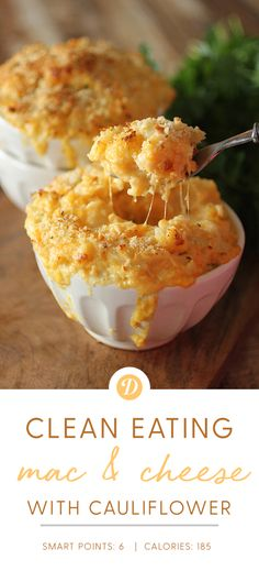 Cauliflower Mac and Cheese (vegetable snacks picky eaters) Califlower Mac And Cheese, Mac And Cheese Healthy, Califlower Recipes, Easy Mac And Cheese, Ww Mac And Cheese Recipe, Gourmet Mac And Cheese, Cauliflower Cheese, Cheese Recipes, Low Carb Recipes