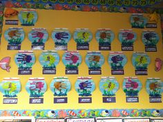 Fishy Features Board Kindergarten Open House Venessa G Preschool Ideas