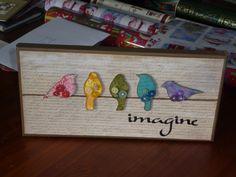 Distress ink canvas | Distress Inks & Jennifer McGuire inspired canvas