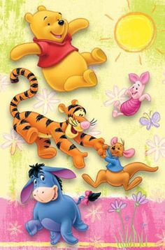 Winnie the Pooh and Friends. :) #CutestCartoonEver