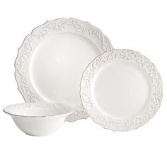 Antique Scroll Dinnerware - Pier 1 -http://www.pier1.com/Antique-Scroll-Dinnerware/PS38375,default,pd.html?cgid=white-dinnerware