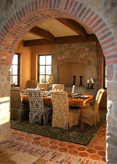 Tuscan Style Dining Area From Houzz Rustic Decorating Pinterest And