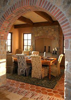 Mediterranean Dining Photos Rustic Tuscan Decor Design, Pictures, Remodel, Decor…