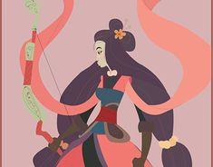 "Check out new work on my @Behance portfolio: ""Mulan"" http://be.net/gallery/60644697/Mulan"