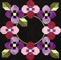 Spring Bouquet, Block 8 from Out Of The Darkness/A New Beginning Block-Of-The-Month by Pam Bono.  http://pamsclub.com/index.php?category_id=15=shop.browse=71=com_virtuemart=1=71