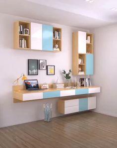 😍 Beautiful Home Design Ideas Study Table Designs, Study Room Design, Living Room Tv Unit Designs, Small Room Design, Home Room Design, Kids Study Table Ideas, Bedroom Closet Design, Diy Bedroom Decor, Rideaux Design