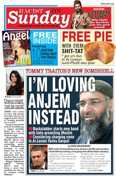 Tommy Robinson and Anjem Chaudhery Get it On www.dailyracist.org