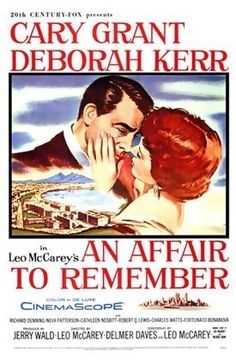 An Affair to Remember is a 1957 film starring Cary Grant and Deborah Kerr. The film is considered one of the most romantic movies of all time, according to the American Film Institute. The 1993 film Sleepless in Seattle, starring Tom Hanks and Meg Ryan, was partly inspired by An Affair to Remember, particularly the ending. References, clips and the theme song from the earlier film are used throughout. An Affair to Remember is ranked # 5 on the AFI list of America's greatest love stories.