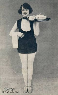 PIN-UP – WOMAN AS WAITER WITH TRAY – PART OF WORKING GIRL SERIES – c1930
