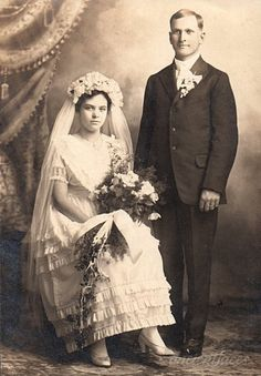 The wedding photo of Theodore & Fanny Meta (Janssen) Roos taken on October 12th, 1916. http://www.ancientfaces.com/photo/theodore-fanny-meta-janssen-roos-wedding/1296036