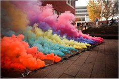 Smoke bombs! My favorite thing about the 4th! This would be awesome for senior pics.