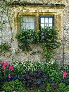 I just love old stone and greenery!