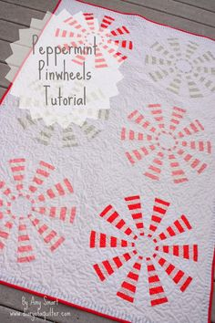 Simple tutorial using a dresden-wedge ruler to make a pinwheel quilt. Using striped-fabric to add a design motif. Deceptively simple.
