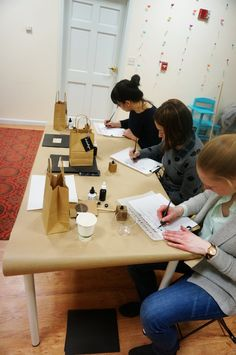 advanced modern calligraphy workshop with bedsidesign
