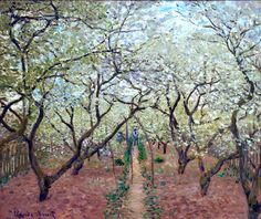 Orchard in Bloom - Claude Monet