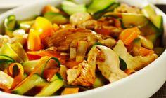 Carottes et courgettes sauce curry