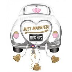 """Ballon voiture mariés """"Just Married """" XL"""
