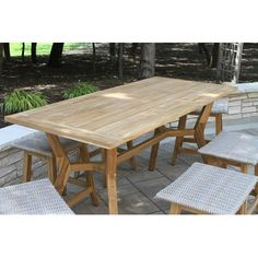 Nautical Teak Wood Counter Height Outdoor Table with All-Weather Wicker Teak Table, Solid Wood Dining Table, Glass Dining Table, Dining Set, Outdoor Wood Furniture, Teak Furniture, Outdoor Decor, Outdoor Side Table, Patio Table