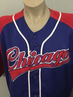 30041ee6d4a Vintage MAJOR LEAGUE DYNASTY Chicago Cubs Jersey Shirt Men s SIZE XL  (Bin12)  DYNASTY
