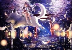 Commission: Night of Sakura by KidCurious on DeviantArt Mystic Messenger Email Guide, Anime Artwork, Special Promotion, Anime Scenery, Autumn Theme, Manga Art, Amazing Art, Artsy, Deviantart