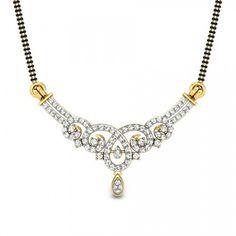 Diamond Mangalsutra with unique design and cheap price visit http://www.candere.com/suprita-mangalsutra-pendant.html