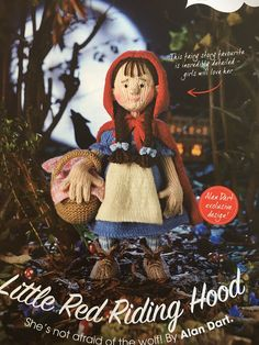 Excited to share the latest addition to my #etsy shop: Alan Dart's Little Red Riding Hood Knitting Pattern Alan Dart, Red Riding Hood, Stuffed Toys Patterns, Little Red, Knitting Patterns, Knit Patterns, Cable Knitting Patterns, Knitting Stitch Patterns, Crochet Pattern
