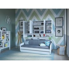 Compact Full/Full XL Sofa bed and Cabinets Wall System Sofa Bed With Trundle, Daybed Mattress, Mattress Covers, Bunk Bed, Queen Murphy Bed, Murphy Bed Plans, Murphy Beds, Xl Sofa, Bed Unit