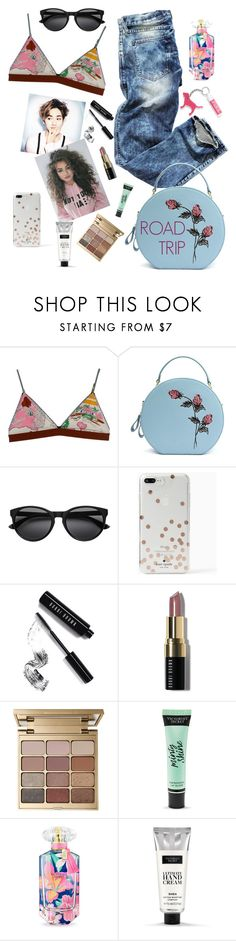 """""""The fun of it!"""" by elliewriter ❤ liked on Polyvore featuring H&M, LoveStories, Kate Spade, Bobbi Brown Cosmetics, Stila and Victoria's Secret"""
