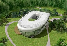 """This toilet-shaped house – named Haewoojae, which means """"a place of sanctuary where one can solve one's worries"""" – was designed by the chairman of the organizing committee of the Inaugural General Assembly of the World Toilet Association, who hopes that it will bring attention to the world's sanitation problems, according to Freshome.com. It is located in Suweon, which is south of Seoul, Korea."""